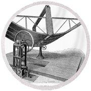Solar Engine, 1884 Round Beach Towel