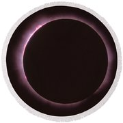 Solar Prominence And Chromosphere Round Beach Towel by Science Source