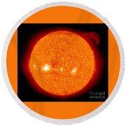 Solar Prominence Round Beach Towel