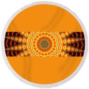 Solar Wind Round Beach Towel
