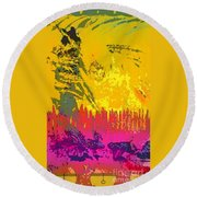 Soldier For Love Round Beach Towel