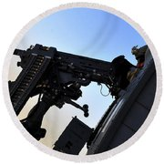 Soldier Mans The .50 Caliber Machine Round Beach Towel