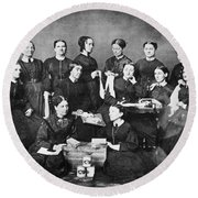 Soldiers Aid Society, 1863 Round Beach Towel