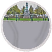 Soldiers And Sailors Monument In Lafayette Square Round Beach Towel