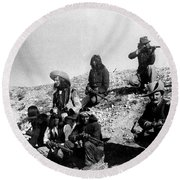 Soldiers And Scouts Round Beach Towel