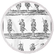 Soldiers: Infantry Drill Round Beach Towel
