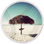 Solitude-vintage Round Beach Towel