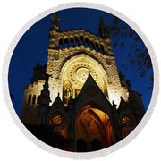Soller Cathedral Round Beach Towel