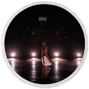 Solo Dance Performance Round Beach Towel by Scott Sawyer
