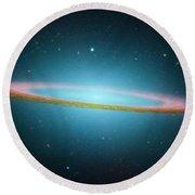 Sombrero Galaxy M104, Ir Image Round Beach Towel