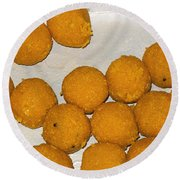 Some Indian Sweets Called A Ladoo In The Shape Of A Sphere Round Beach Towel