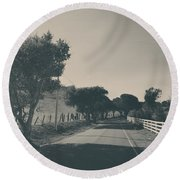 Somethin' About You And I Round Beach Towel by Laurie Search