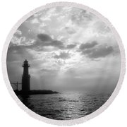 Somewhere Out There Round Beach Towel
