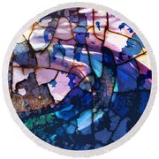 Songs And Colours  Round Beach Towel