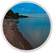 Soothing Shoreline Round Beach Towel