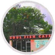 Soul Fish Round Beach Towel