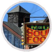Soul Food Round Beach Towel