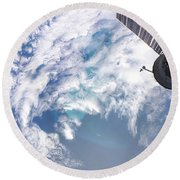 South Atlantic Plankton Bloom Round Beach Towel