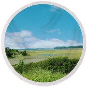 South Carolina Coastal Marsh Round Beach Towel