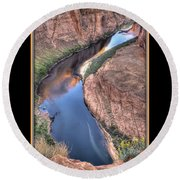 South Side Of Horseshoe Bend Round Beach Towel