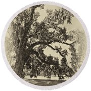 Southern Comfort Sepia Round Beach Towel