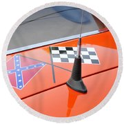 Southern Racing Flags Round Beach Towel