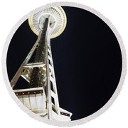 Space Needle Round Beach Towel