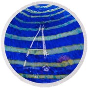 Space Needle Reflected Round Beach Towel