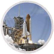 Space Shuttle Atlantis Twin Solid Round Beach Towel