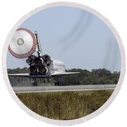 Space Shuttle Atlantis Unfurls Its Drag Round Beach Towel