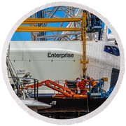 Space Shuttle Enterprise Round Beach Towel by Chris Lord