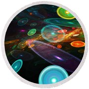 Space Travel In 2112 Round Beach Towel