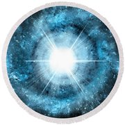 Space006 Round Beach Towel by Svetlana Sewell