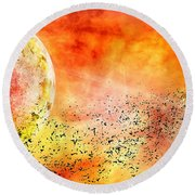 Space013 Round Beach Towel