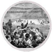 Spain: Bullfight, 1875 Round Beach Towel