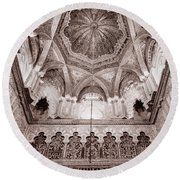 Spain Cathedral 1 Round Beach Towel