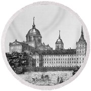 Spain: El Escorial, C1860 Round Beach Towel