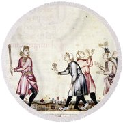Spain: Medieval Ballgame Round Beach Towel