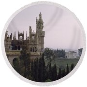 Spanish Castle Round Beach Towel