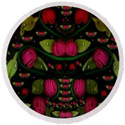 Spanish Flamenco Roses In Fantasy Style Round Beach Towel