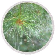 Sparkly Pine Round Beach Towel