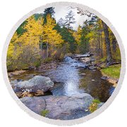 Special Place In The Woods  Round Beach Towel