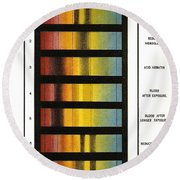 Spectra Chart, Blood Samples, 1894 Round Beach Towel