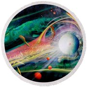 Sphere Metaphysics Round Beach Towel