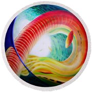 Sphere Serpula 2 Round Beach Towel