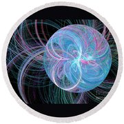 Spherical Symphony Round Beach Towel
