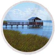 Spi Birding Center Boardwalk Round Beach Towel