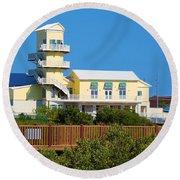 Spi Birding Center From The Boardwalk Round Beach Towel