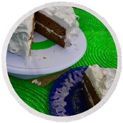 Spice Cake 02 Round Beach Towel
