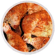 Spicy Chicken Round Beach Towel